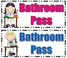 bathroom pass ideas gallery for gt bathroom pass clipart for
