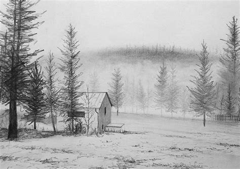 Art By Nolan Blog Archive How To Draw A Snowy Landscape