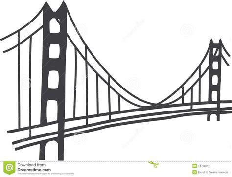 Golden Gate Bridge drawing stock photo. Illustration of ...