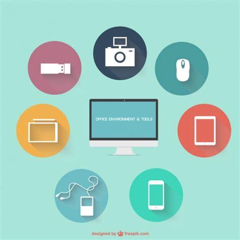 icone de bureau gratuits icônes de bureau plat télécharger des vecteurs