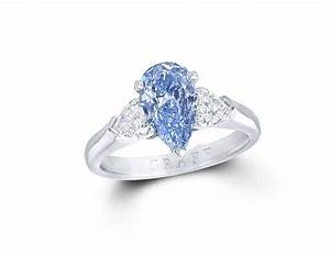 blue diamond engagement rings the rarest of them all With wedding rings blue diamond