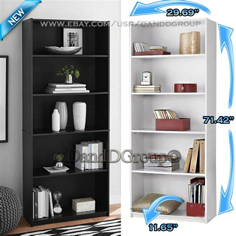 Bookcase Store by Adjustable 5 Shelf Wood Bookcase Storage Shelving Book
