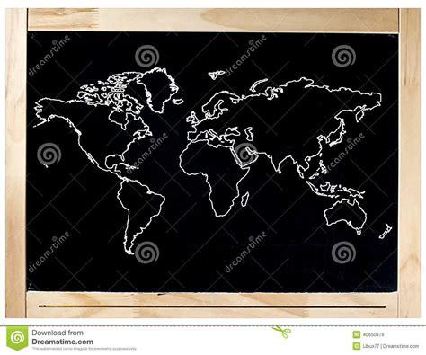 carte du monde de cadre de tableau noir d isolement photo stock image 40650879