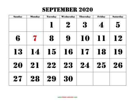 september  printable calendar   monthly