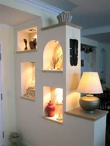 partition wall lit and decorative for living room With living room partition wall designs