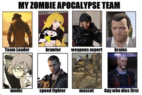 Zombie Apocalypse Team Meme - apocalypse team meme apocalypse team www pixshark images i did the team thing my apocalypse team