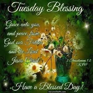 Tuesday Morning with Blessings Bible Quotes