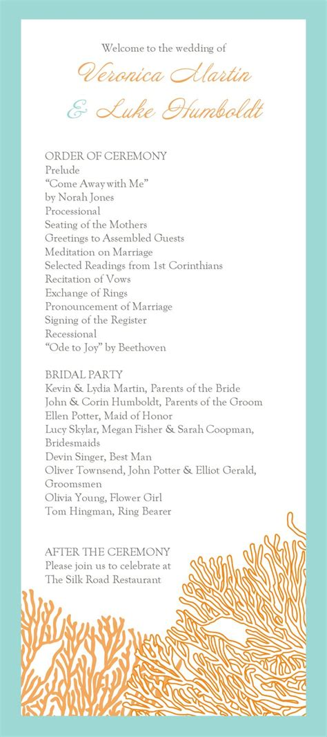 wedding program templates simple 13 best images about wedding programs on program template simple weddings and