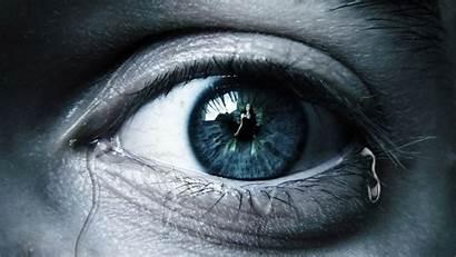 Eyes Reflection Digital Tears Macro Detailed Looking
