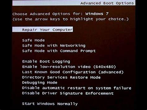 windows error recovery won t boot windows 7