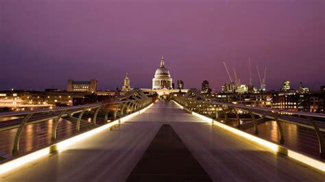 millennium bridge london cityscape wallpaper desktop