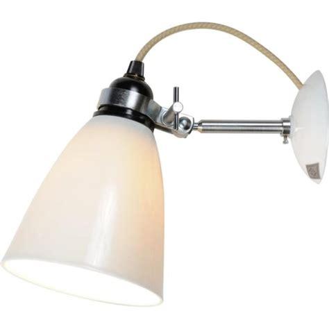 modern white ceramic bone china wall light with adjustable