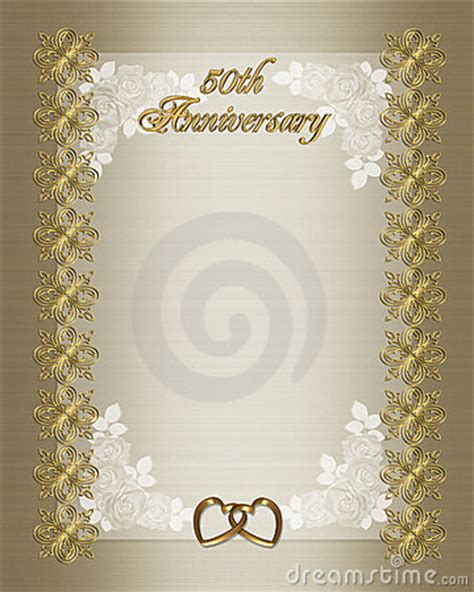 50th Wedding Anniversary Invitation Template Royalty Free