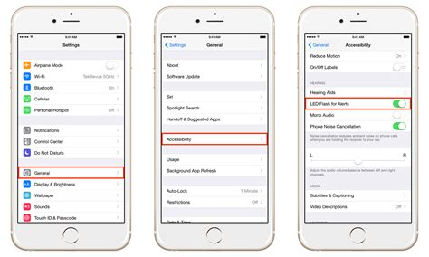 iphone recent calls settings increase your iphone s visibility by enabling led flash alerts