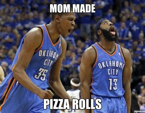 Funny Basketball Meme - memesnba pizza rolls
