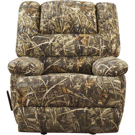 walmart camo recliner realtree camouflage deluxe recliner walmart