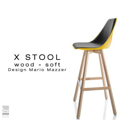 largeur bar cuisine tabouret de bar design x stool wood 75 pied bois