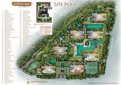 jadescape site plan   singapore