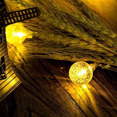 solar outdoor string lights 50 led solar outdoor string lights globe string