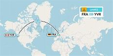 LH492 Flight Status Lufthansa: Frankfurt to Vancouver (DLH492)