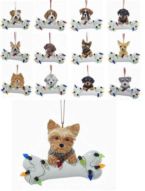 popular dog breeds christmas ornament kurt adler puppy