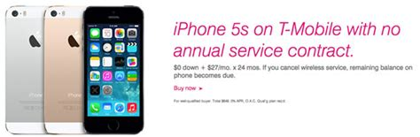 iphone 5s for no contract t mobile to offer 0 deal on 16gb iphones and ipads