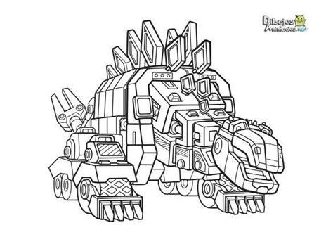 dibujos  colorear dinotrux dibujos animados