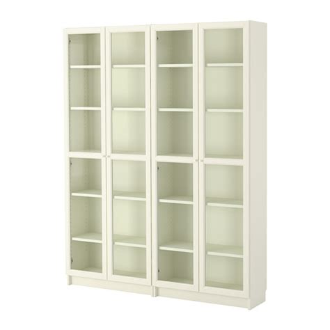 Armoire Bibliotheque Ikea by Billy Oxberg Bookcase White Glass 63x79 1 2x11 Quot Ikea