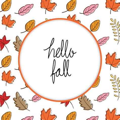 Template backgroung leave fall for greeting card in autumn