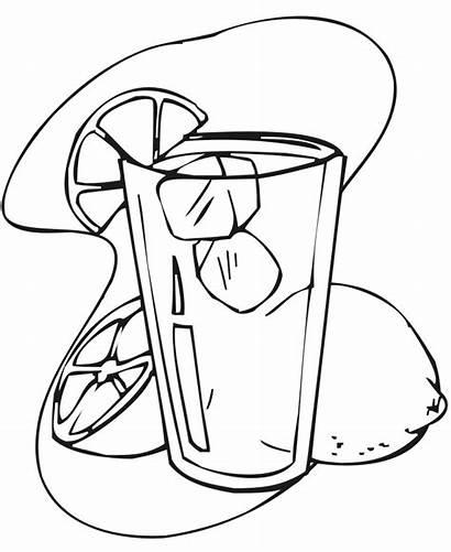 Lemonade Coloring Pages Summer Juice Orange Printable
