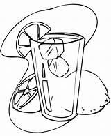 Coloring Juice Lemonade Orange Lemon Drawing Printable Mewarna Colouring Stand Gambar Cytryna Jus Oren Kolorowanki Sheets Wedge Cold Makanan Dzieci sketch template