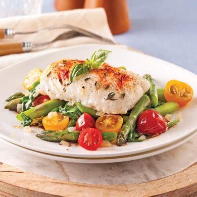 cuisine en equilibre morue grillée et légumes à la vinaigrette chaude