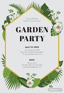 Ms Office Templates Free Free Garden Party Invitation Template In Microsoft Word