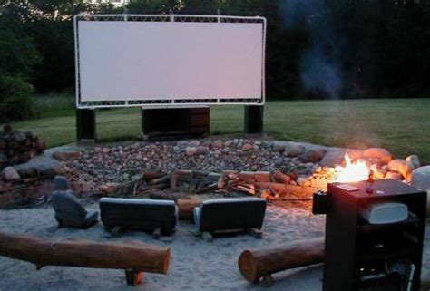 Backyard Theater Screen by Backyard Screen Diy Outdoor Home Design Garden