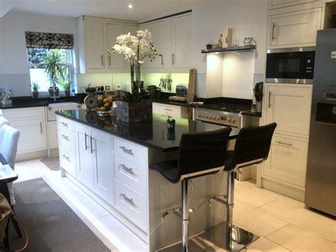 Used Magnet Kitchen with Island, Black Granite Worktops