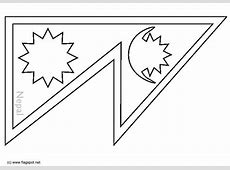 Coloring page flag Nepal img 6299