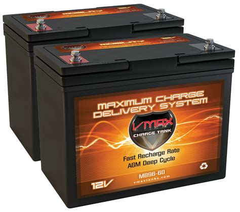 24 volt batterie 2 22nf agm 12 volt 60ah batteries vmax mb96 for 24v 24 volt wheelchairs ebay