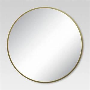 Round Decorative Wall Mirror Brass - Threshold : Target