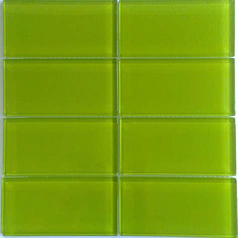 Bright Green Glass Subway Tile in Lemongrass   Modwalls ...