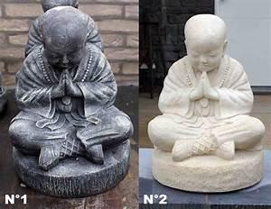 Statue Bouddha Interieur : statue de bouddha en pierre h 37 ou 47 cm ~ Teatrodelosmanantiales.com Idées de Décoration
