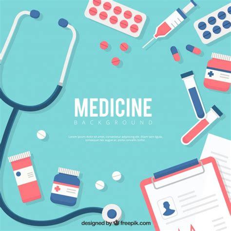 fondo de elementos de medicina en estilo plano descargar