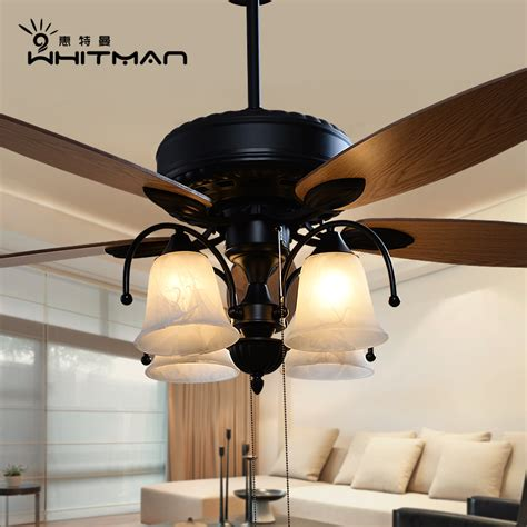 living room fans with lights buy american european retro living room dining fan lights