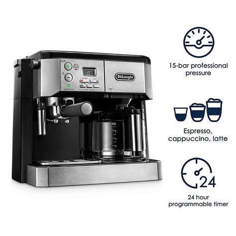 The push button on the lid needs to be fully actuated to ensure the lid opens properly. De'Longhi BCO 430 10-Cup Drip Coffee Maker and Espresso Machine - Stainless Steel - Nezmart