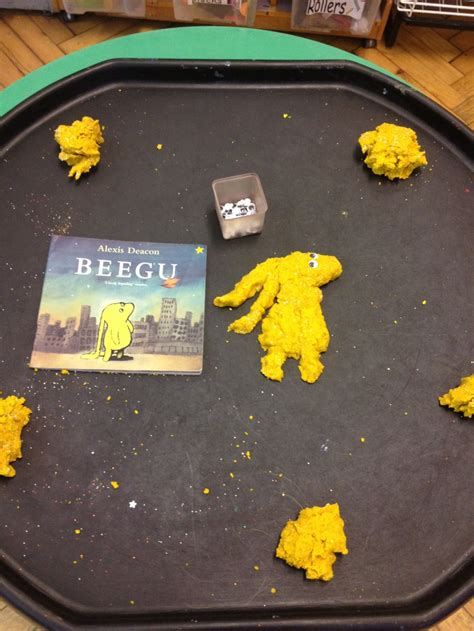 beegu play dough making  googly eyes classroom
