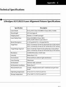 Computational Systems Orporated 8215 Laser Alignment