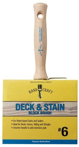 rubberset hand craft 6 quot polyester bristle deck stain