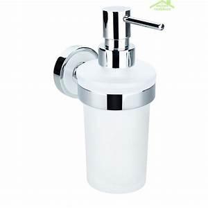 Support Savon Douche : distributeur de savon liquide en verre trend avec support ~ Premium-room.com Idées de Décoration