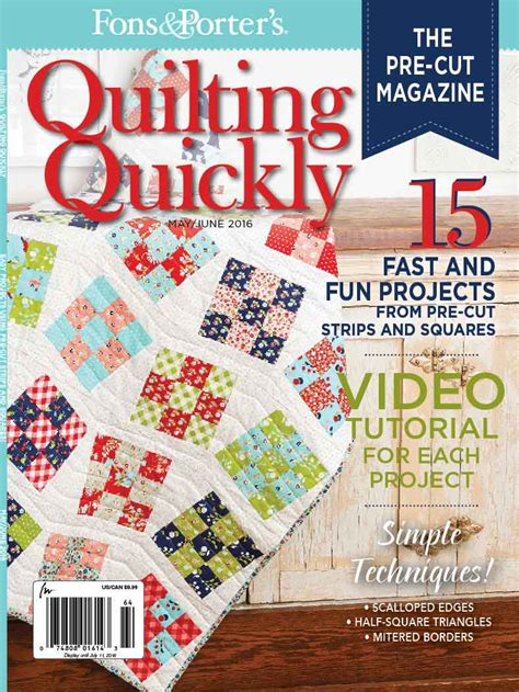 fons and porter quilting quickly quilting quickly may june 2016 fons porter the
