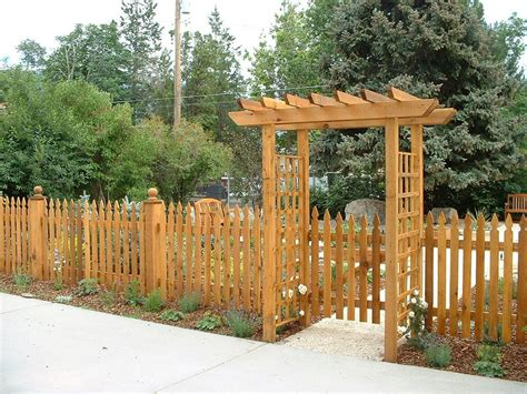 fence picket garden gate arbor wood decorative wooden fencing metal pickets painted fences gothic french backyard bing gates patio deck