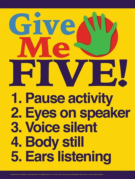 give   elementary classroom management poster